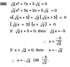 KSEEB SSLC Class 10 Maths Solutions Chapter 10 Quadratic Equations Ex 10.2 3