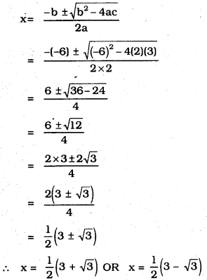 KSEEB SSLC Class 10 Maths Solutions Chapter 10 Quadratic Equations Ex 10.4 2