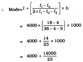 KSEEB SSLC Class 10 Maths Solutions Chapter 13 Statistics Ex 13.2 Q 5.1