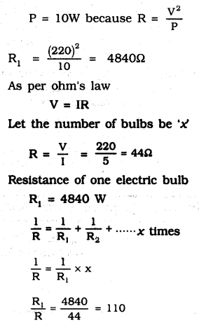 KSEEB SSLC Class 10 Science Solutions Chapter 12 Electricity Ex Q 12