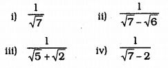 KSEEB Solutions for Class 9 Maths Chapter 1 Number Systems Ex 1.5 4