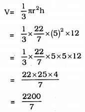 KSEEB Solutions for Class 9 Maths Chapter 13 Surface Area and Volumes Ex 13.7 Q 7.1