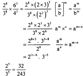 KSEEB Solutions for Class 8 Maths Chapter 10 Exponents Ex. 10.6 1