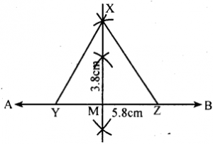 KSEEB Solutions for Class 8 Maths Chapter 12 Construction of Triangles Ex. 12.5 2