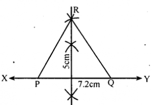KSEEB Solutions for Class 8 Maths Chapter 12 Construction of Triangles Ex. 12.5 3