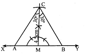 KSEEB Solutions for Class 8 Maths Chapter 12 Construction of Triangles Ex. 12.9 1