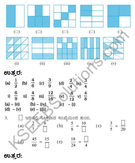 KSEEB Solutions for Class 6 Maths Chapter 7 Binnarashigalu Ex 7.3 2