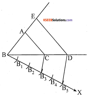 KSEEB Solutions for Class 10 Maths Chapter 6 Constructions Additional Questions 1