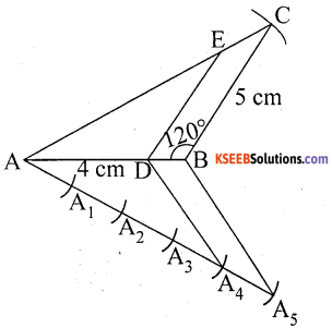 KSEEB Solutions for Class 10 Maths Chapter 6 Constructions Additional Questions 5