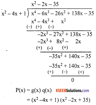 KSEEB Solutions for Class 10 Maths Chapter 9 Polynomials Ex 9.4 5
