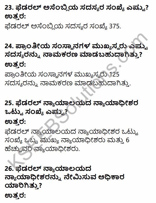 2nd PUC Political Science Question Bank Chapter 1 Origin and Growth of Indian Political System in Kannada 7