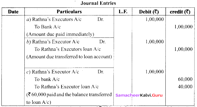 Tamil Nadu 12th Accountancy Model Question Paper 1 English Medium img 15